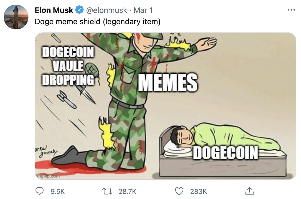 Elon Musk Dogecoin twitter